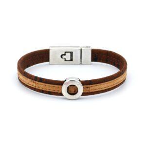 productfoto uit de webshop van een heren armband gemaakt van kurk