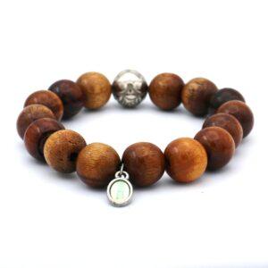 Heren armband gemaakt van houten kralen beschikbaar in verschillende maten deze armband is een uniek kado om te geven aan een partner of vriend
