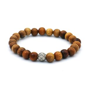 heren armband voor mannen gemaakt van houten kralen