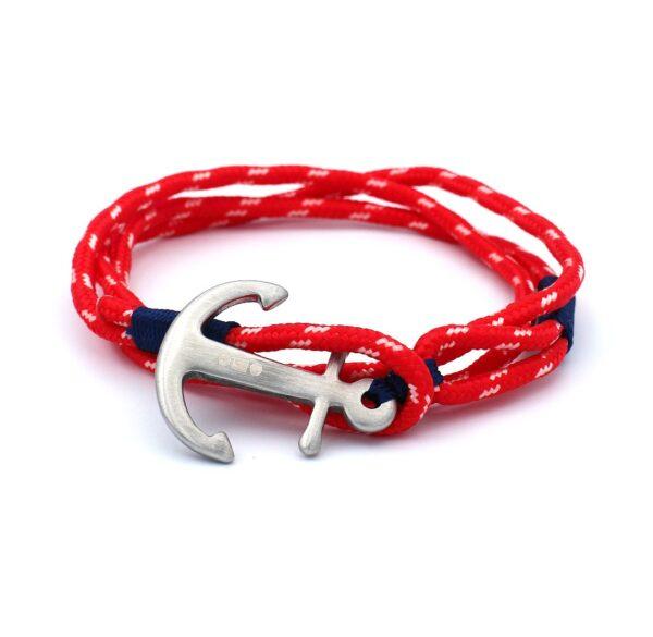 rode anker armband gemaakt van stevig touw